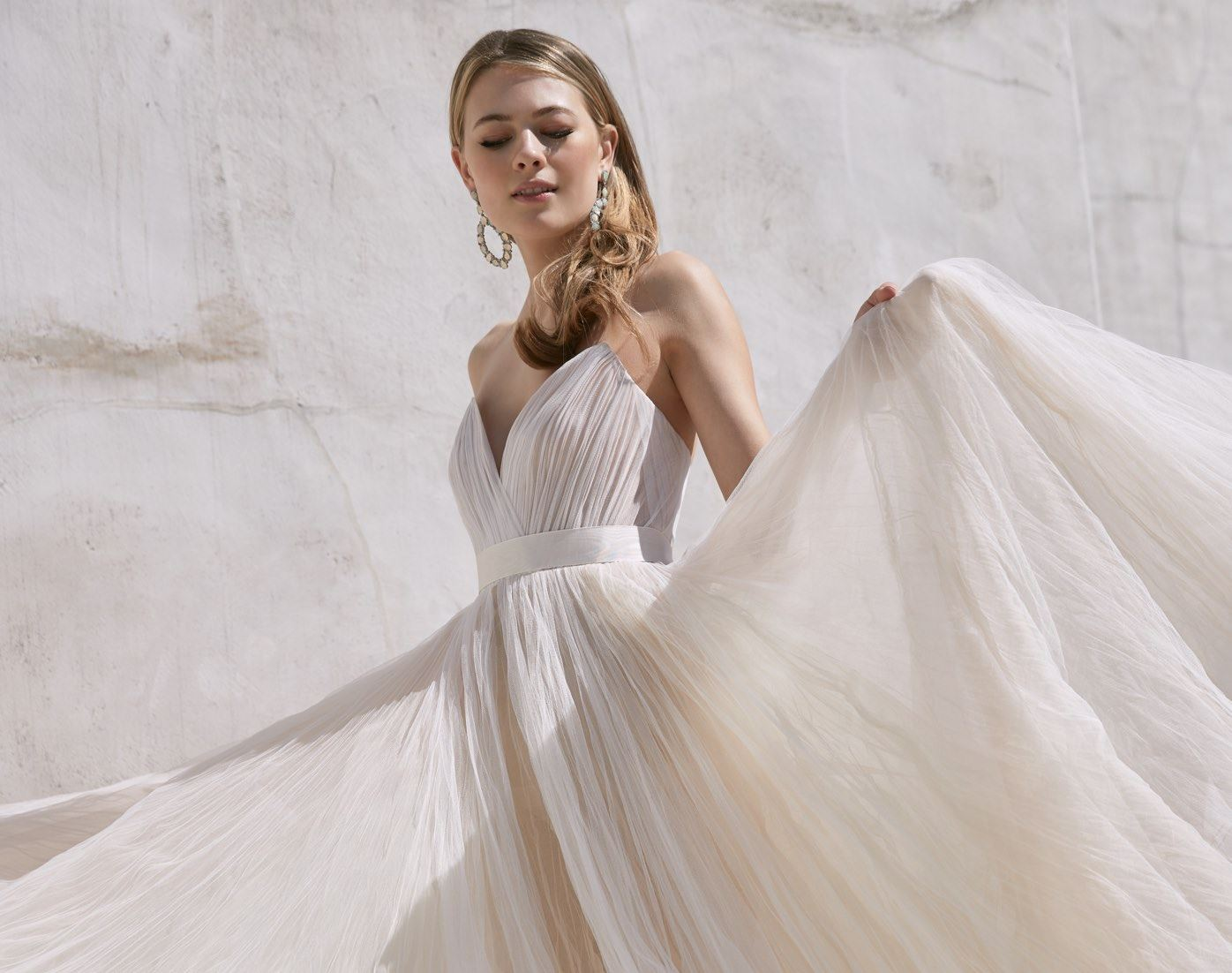 Model in Classy Ball wedding dress