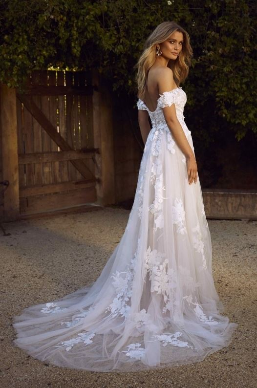 Madi Lane Wedding Gown Elora Off The Shoulder