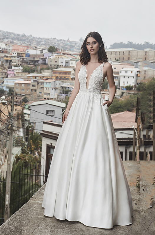 l'amour satin ballgown wedding dress